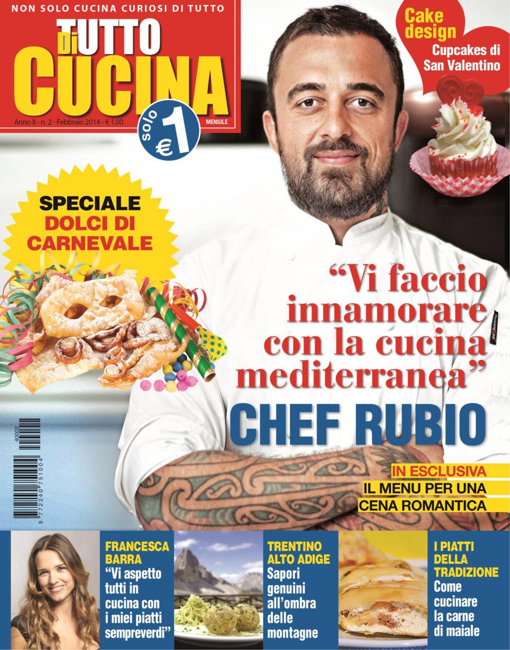 nel nuovo numero di febbraiomarzo della rivista di tutto cucina stata pubblicizzata la linea di pirofile de le ceramiche dei dogi con una nuova